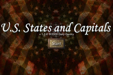 Screenshot US States and Capitals
